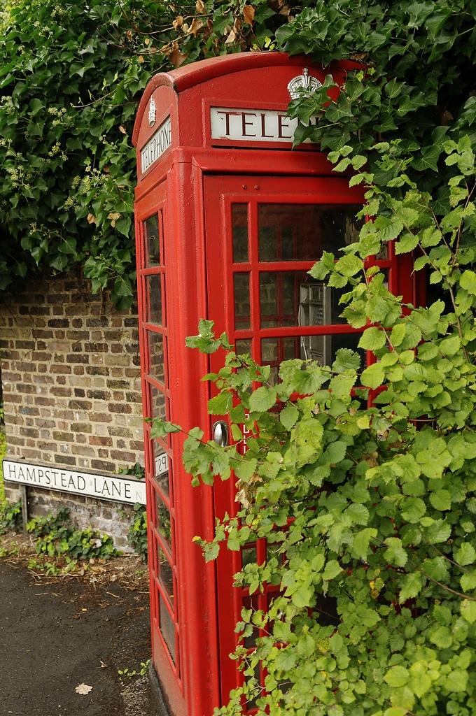Cabine téléphonique à Hampstead