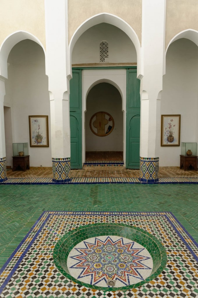Cours intérieure du Musée de Marrakech
