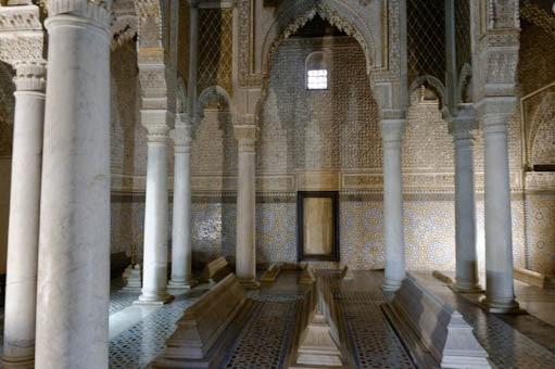 Chambre funéraire dans les tombeaux Saadiens