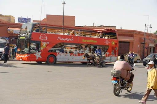 Visite de Marrakech avec le bus touristique