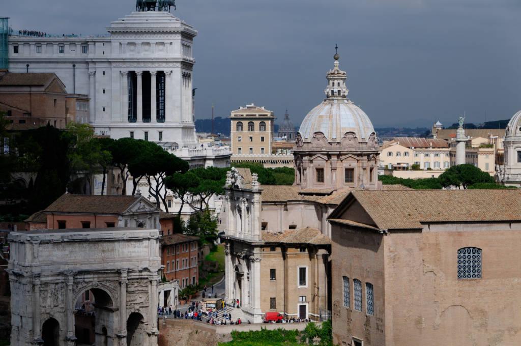 Vue de Rome depuis le Palatin