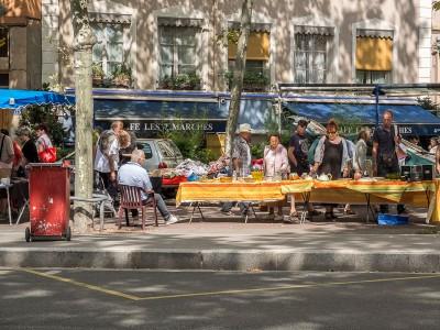 Marché forrain de la Croix Rousse à Lyon