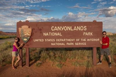 A l'entrée de Canyonlands National Park