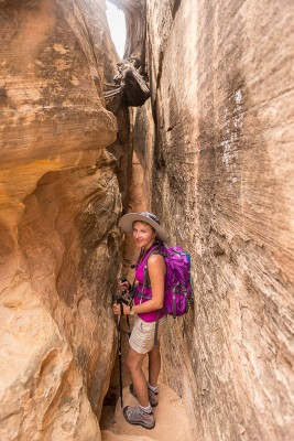 Slot Canyon à Canyonlands National Park, The Needles