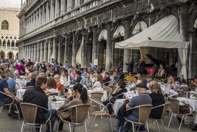 Le café Florian, place Saint Marc à Venise