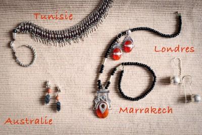 Souvenirs de voyage Tunisie, Australie, Marrakech et Londres