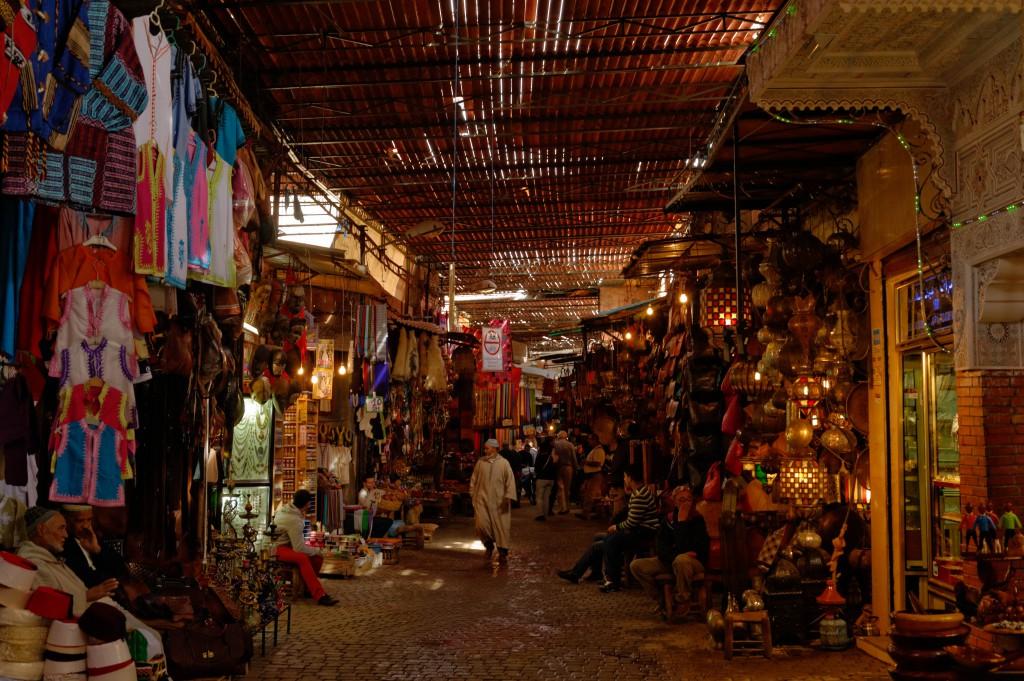 Promenade dans les souks de Marrakech