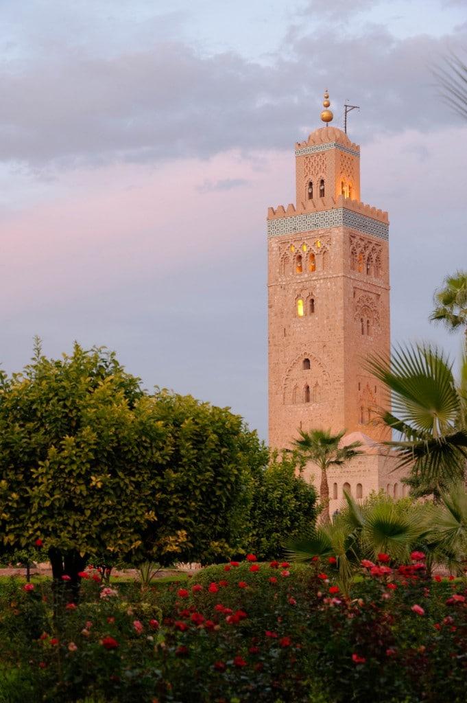 Le minaret de la Koutoubia à Marrakech
