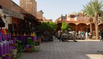 Vue de la place des ferblantiers à Marrakech