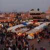 La place Djemaa El Fna en soirée