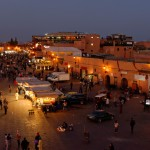 Place Djemaa el Fna by night