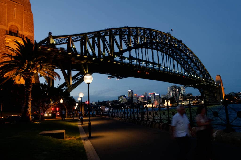 Sydney Harbour Bridge de nuit