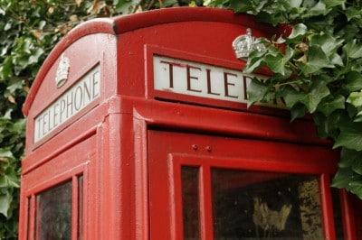 Ancienne cabine téléphonique de Londres