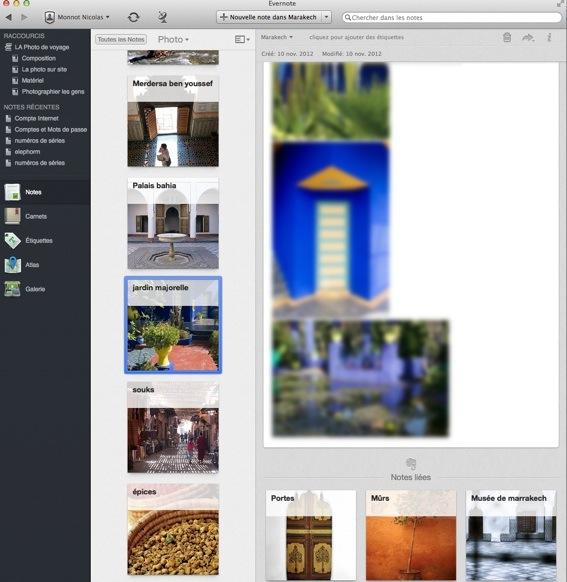 Utilisation d'Evernote pour réaliser un carnet d'inspiration de photo de voyage