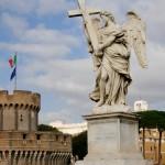 Château et pont Saint Ange à Rome