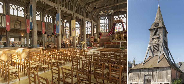 Honfleur : l'église Sainte Catherine