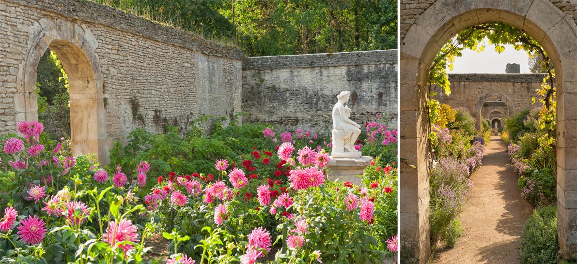 La chartreuse de fleurs du Château de Canon