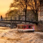 Ballade en bateau-mouche à Amsterdam