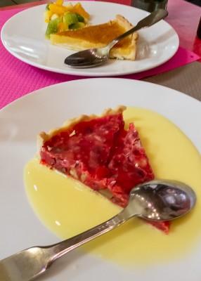 En dessert spécialité lyonnaise : la tarte à la praline