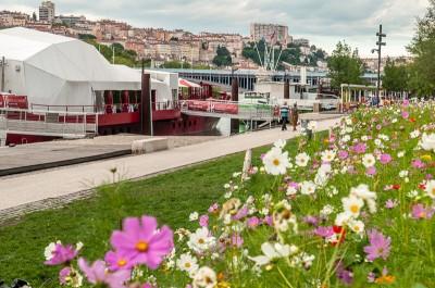 Cafés péniches sur les bords du Rhône à Lyon