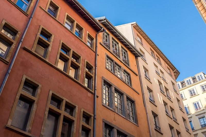 Lyon Croix Rousse : Façade montée de la Grande Côte