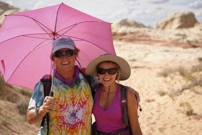 Susan notre guide de rando Paria Outpost & Outfitters