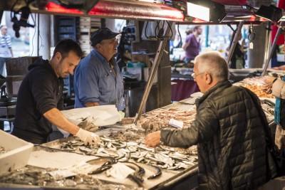 Marché aux poisson du Rialto à Venise