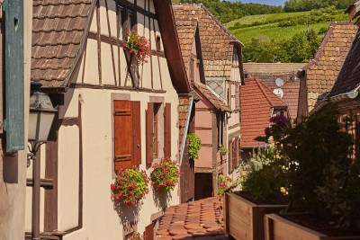 Route des vins d'Alsace : Ribeauvillé, gite le 1513