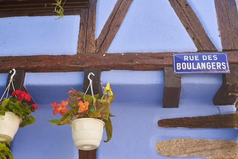 Route des vins d'Alsace : Ribeauvillé, maison alsacienne