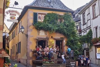 Route des vins d'Alsace : Ribeauvillé, dégustation de vins d'Alsace