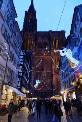 MarchŽé de Noë'l de Strasbourg : la cathédrale