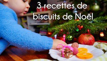 3 recettes de biscuits de Noël