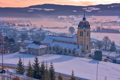 Morteau sous la neige Haut-Doubs