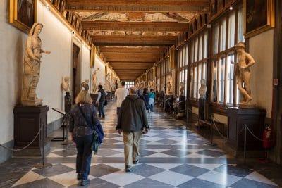 Visiter le musée des Offices à Florence : la gallerie