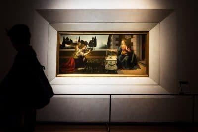 Visiter le musée des Offices à Florence : l'Annonciation de Leonard de Vinci