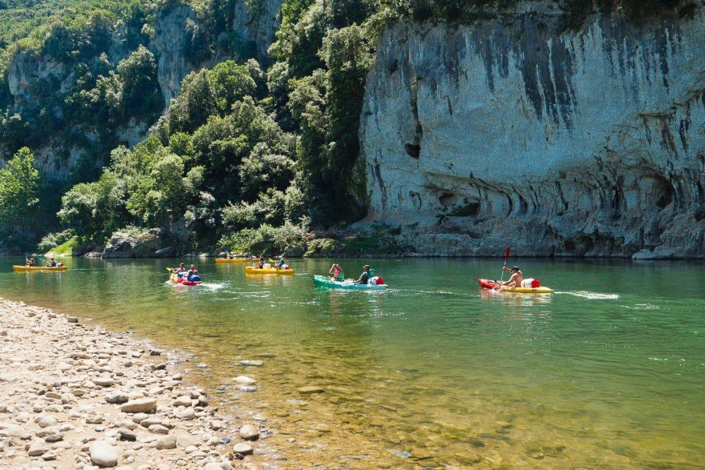 Descente en canoë kayak de l'Ardèche