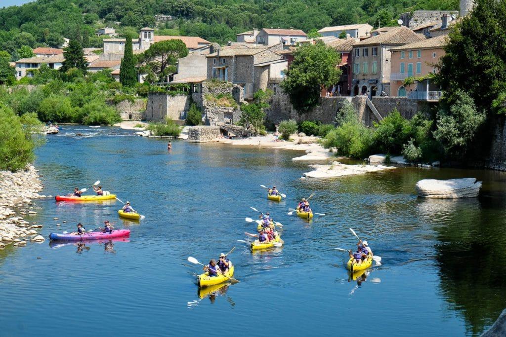 kayak sur l'Ardèche