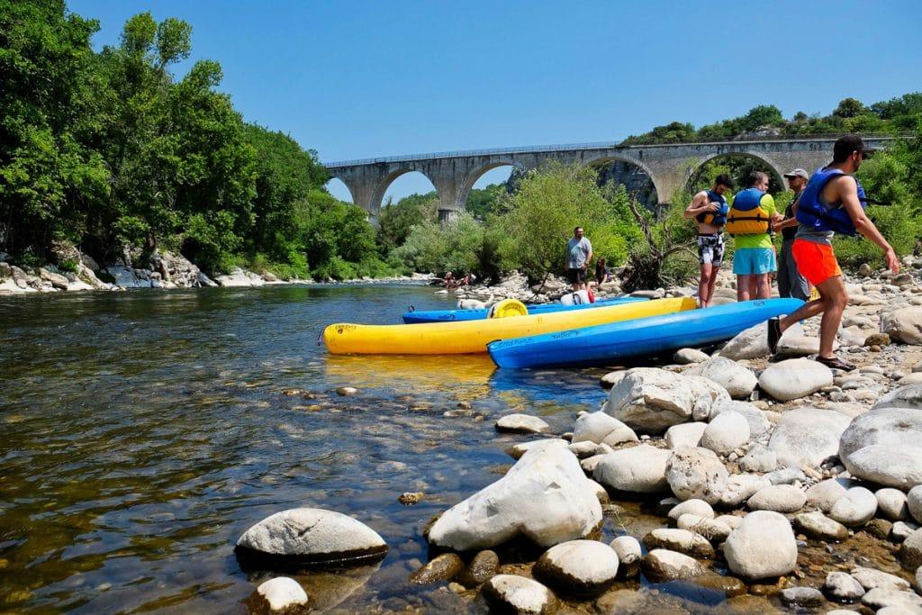 Descente de l'Ardèche en kayak