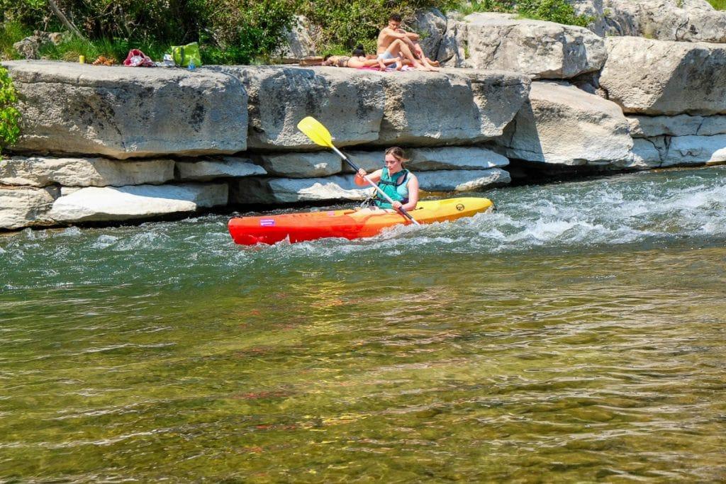 Les gorges de l'Ardèche en kayak