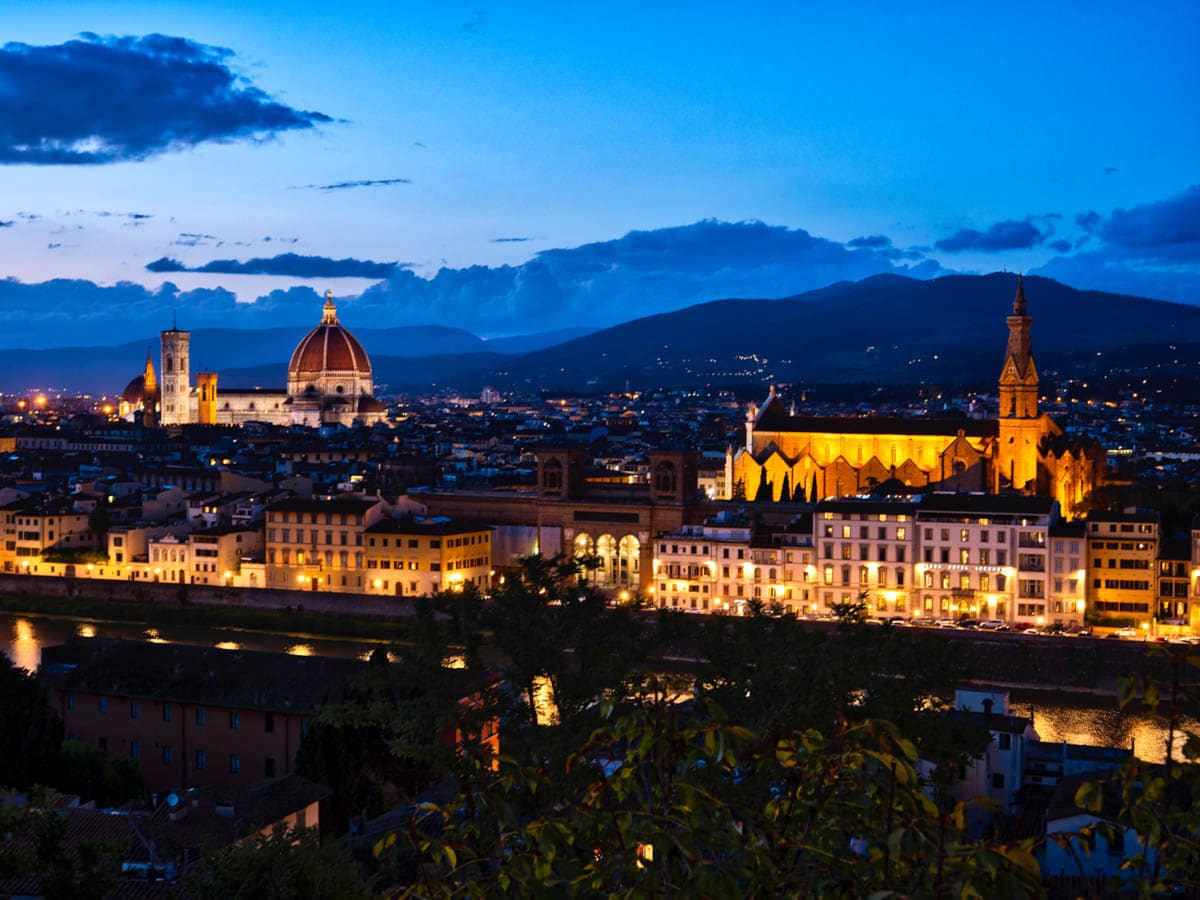 Couché de soleil sur Florence