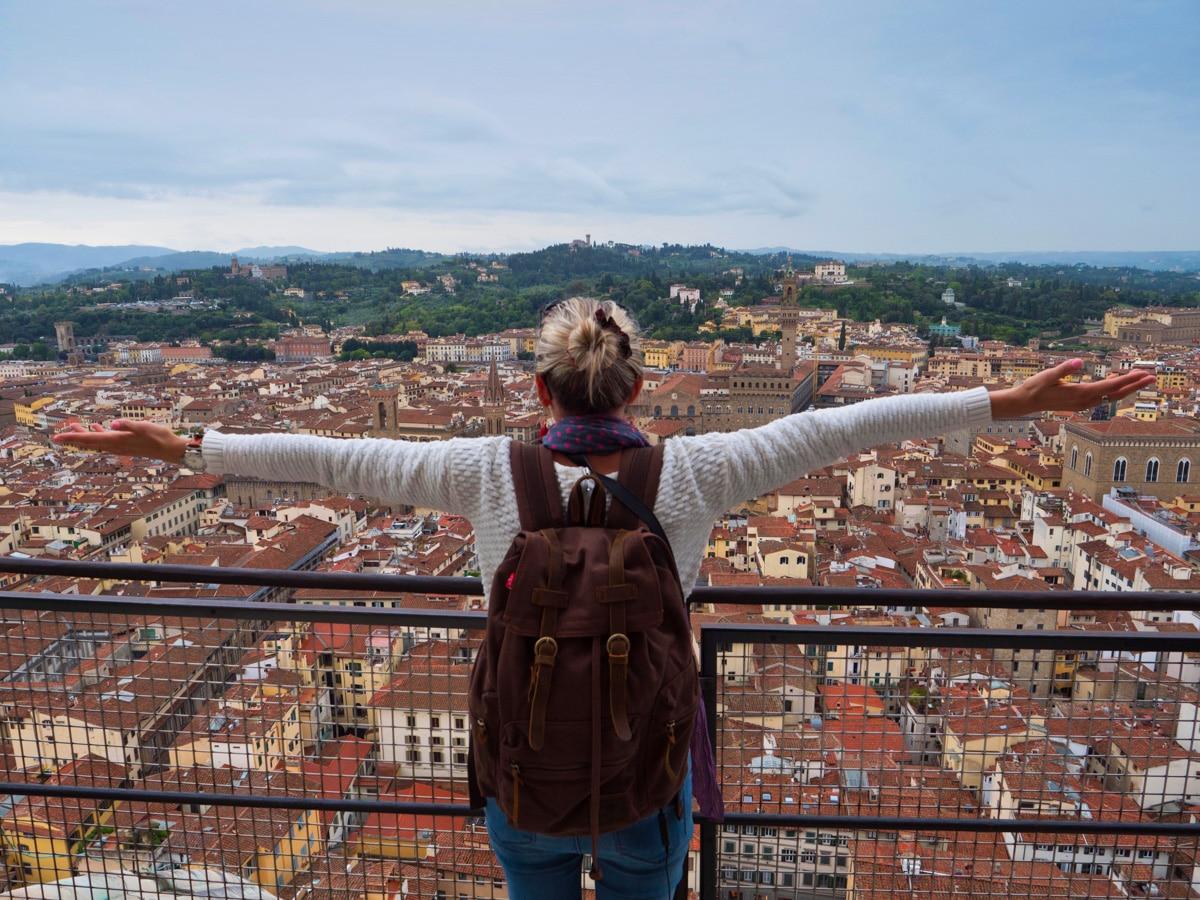 En haut du Duomo à Florence