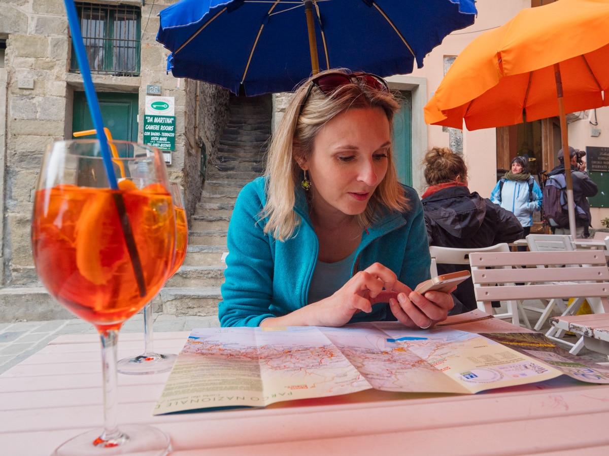 Ou manger dans les Cinque Terre : apéro à Vernazza