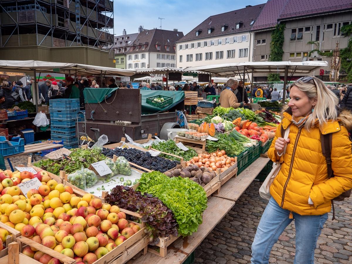 Marché Freiburg Forêt Noire Allemagne