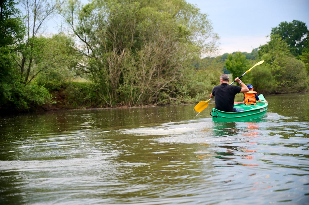 canoe en Franche-Comté sur l'Ognon