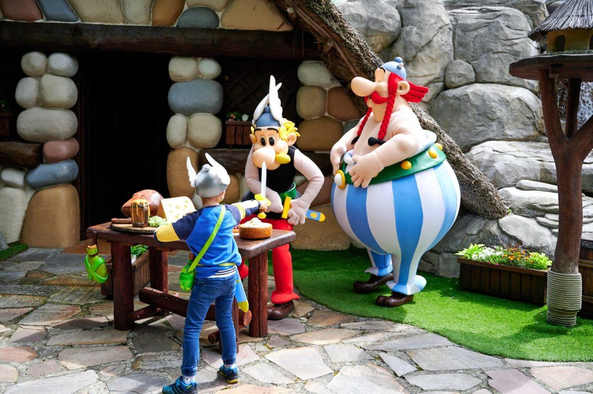 Mascottes Astérix et Obélix